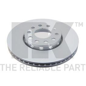 Bremsscheibe Bremsscheibendicke: 25,00mm, Felge: 5,00-loch, Ø: 288mm mit OEM-Nummer 4B0615301B