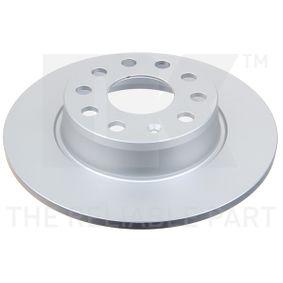 Bremsscheibe Bremsscheibendicke: 10,00mm, Felge: 5,00-loch, Ø: 272mm mit OEM-Nummer 1K0 615 601 AA
