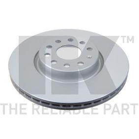 Bremsscheibe Bremsscheibendicke: 25,00mm, Felge: 5,00-loch, Ø: 312mm mit OEM-Nummer 5Q0615301F