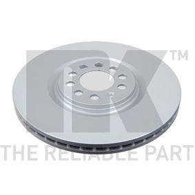 Bremsscheibe Bremsscheibendicke: 25,00mm, Felge: 9,00-loch, Ø: 312mm mit OEM-Nummer 8L0 6153 01