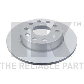 Bremsscheibe Bremsscheibendicke: 12,00mm, Felge: 5,00-loch, Ø: 256mm mit OEM-Nummer 1K0 615 601 L