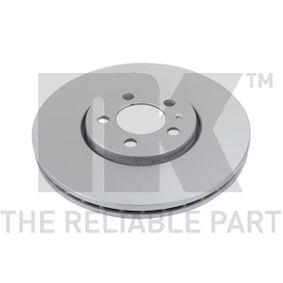 Bremsscheibe Bremsscheibendicke: 25,00mm, Felge: 5,00-loch, Ø: 288mm mit OEM-Nummer JZW 615 301D