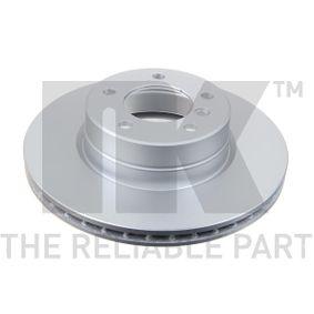 Bremsscheibe Bremsscheibendicke: 24,00mm, Felge: 5,00-loch, Ø: 310mm mit OEM-Nummer 34116764021