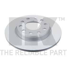 Bremsscheibe Bremsscheibendicke: 12mm, Felge: 5-loch, Ø: 255mm mit OEM-Nummer 8E0615601D