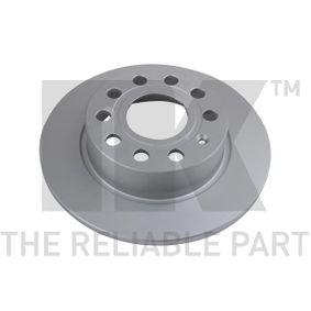 Bremsscheibe Bremsscheibendicke: 10,00mm, Felge: 5,00-loch, Ø: 255mm mit OEM-Nummer 5Q0 615 601 F