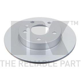 Bremsscheibe Bremsscheibendicke: 10,00mm, Felge: 5,00-loch, Ø: 264mm mit OEM-Nummer 569 109