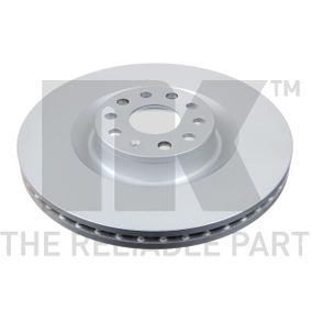 Спирачен диск дебелина на спирачния диск: 30,00мм, джанта: 5,00-дупки, Ø: 345мм с ОЕМ-номер 1K0615301AB