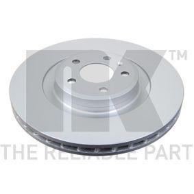 Brake Disc Brake Disc Thickness: 29,3mm, Rim: 5-Hole, Ø: 345mm with OEM Number 8K0 615 301 Q