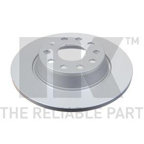 Bremsscheibe Bremsscheibendicke: 12,00mm, Felge: 5,00-loch, Ø: 282mm mit OEM-Nummer 8P0 098 601 M