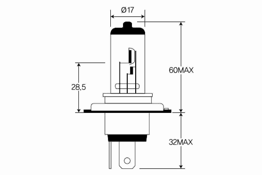 Bulb, spotlight VEMO H4 4046001575723