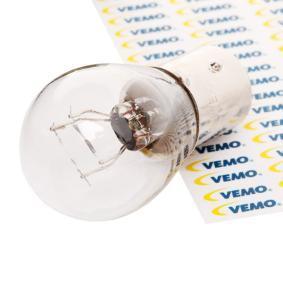 Крушка с нагреваема жичка, мигачи P21/5W, BA15D, 12волт, 21/5ват, Original VEMO Quality V99-84-0005