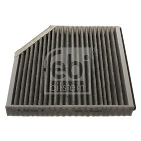 Filter, Innenraumluft Länge: 256mm, Breite: 248,5mm, Höhe: 35mm mit OEM-Nummer 4H0819439
