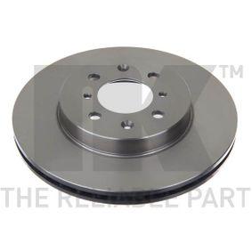 Bremsscheibe Bremsscheibendicke: 21mm, Felge: 4-loch, Ø: 262mm mit OEM-Nummer 45251TARG00