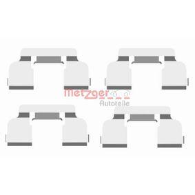 Renault Twingo 2 1.2 Turbo (CN0C, CN0F) Zubehörsatz, Scheibenbremsbelag METZGER 109-1698 (1.2 Turbo Benzin 2017 D4F 782)