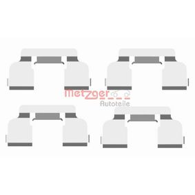 Renault Twingo 2 1.2 (CN0D) Zubehörsatz, Scheibenbremsbelag METZGER 109-1698 (1.2 (CN0D) Benzin 2016 D7F 800)