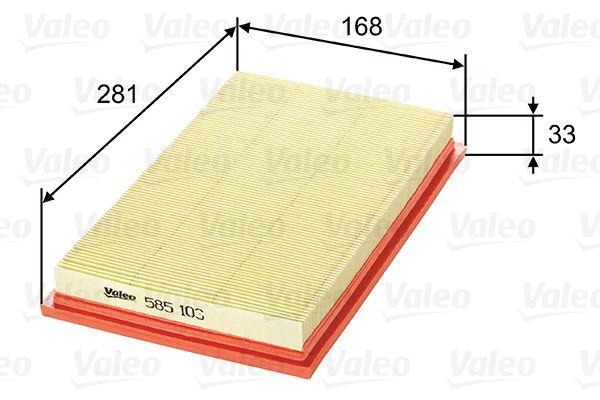 Luftfilter 585103 VALEO 585103 in Original Qualität