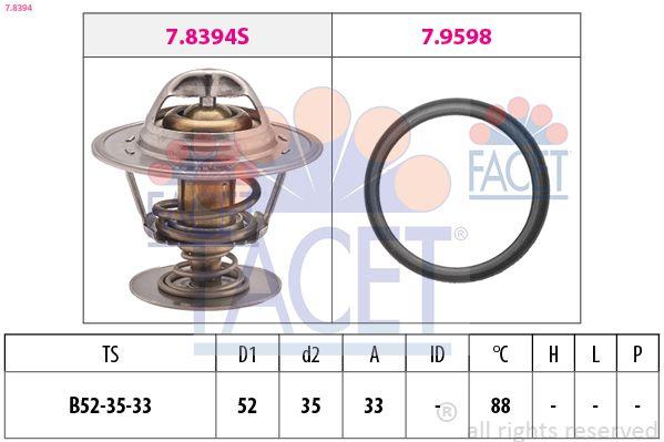 FACET  7.8394 Thermostat, Kühlmittel D1: 52mm, D2: 35mm