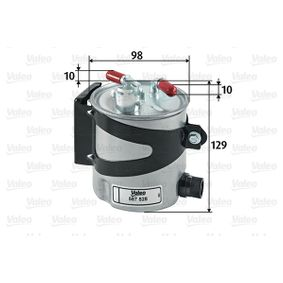 Fuel filter Height: 129mm with OEM Number 7701062436