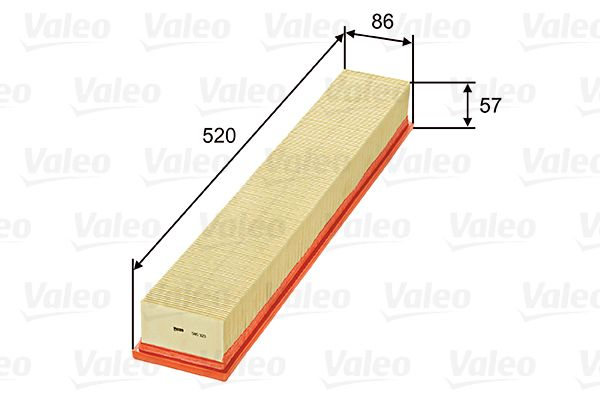 Luftfilter 585323 VALEO 585323 in Original Qualität