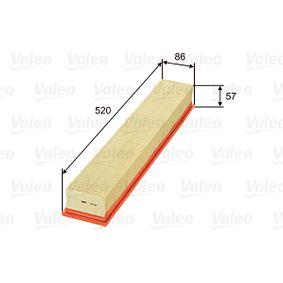 Luftfilter Länge: 520mm, Breite: 86mm, Höhe: 57mm mit OEM-Nummer 111 094 0304