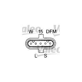 Lichtmaschine Rippenanzahl: 9 mit OEM-Nummer 013 154 41 02
