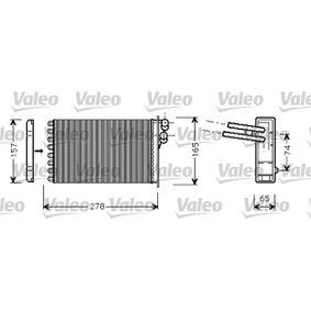 Wärmetauscher VW PASSAT Variant (3B6) 1.9 TDI 130 PS ab 11.2000 VALEO Wärmetauscher, Innenraumheizung (812317) für