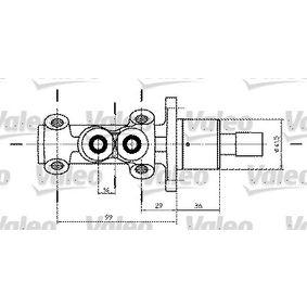 VALEO Hauptbremszylinder 350734 für AUDI 90 (89, 89Q, 8A, B3) 2.2 E quattro ab Baujahr 04.1987, 136 PS