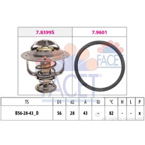 Thermostat, coolant D1: 56mm, D2: 28mm with OEM Number 90916 03125