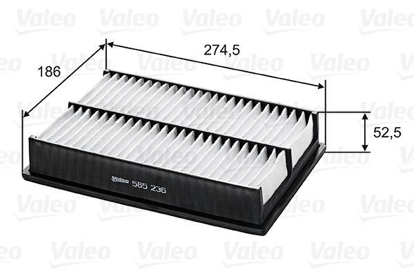 Luftfilter 585236 VALEO 585236 in Original Qualität
