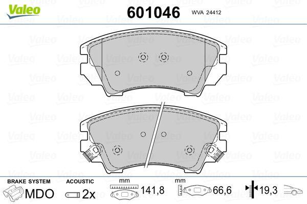 Brake Pads 601046 VALEO 601046 original quality