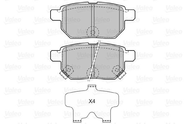 Disk brake pads VALEO 598933 rating