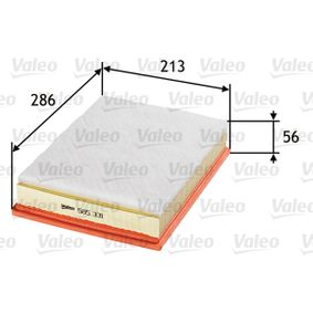 Luftfilter Länge: 286mm, Breite: 213mm, Höhe: 56mm mit OEM-Nummer 1 137 582