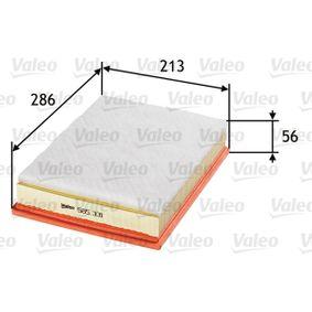 Luftfilter Länge: 286mm, Breite: 213mm, Höhe: 56mm, Länge: 286mm mit OEM-Nummer 5 018 338