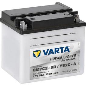 VARTA POWERSPORTS 507101008A514 Starterbatterie Länge: 130mm, Breite: 90mm, Höhe: 114mm
