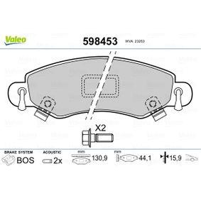 Bremsbelagsatz, Scheibenbremse Breite: 130,9mm, Höhe: 44,1mm, Dicke/Stärke: 15,9mm mit OEM-Nummer 4704 578