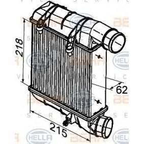 HELLA Ladeluftkühler 8ML 376 746-641 für AUDI A4 (8E2, B6) 1.9 TDI ab Baujahr 11.2000, 130 PS