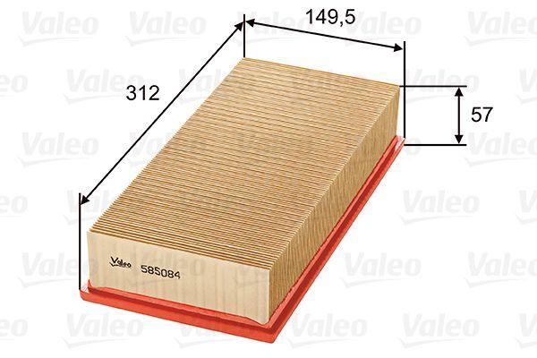 Filtro dell'aria 585084 VALEO 585084 di qualità originale