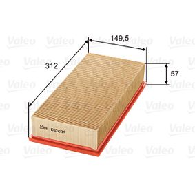 Air Filter Length: 312, 314mm, Width: 151mm, Height: 58mm, Length: 312, 314mm with OEM Number 16546 BN701