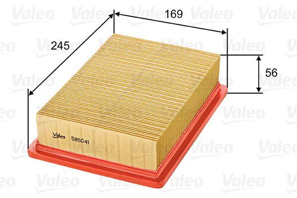 Luftfilter 585041 VALEO 585041 in Original Qualität