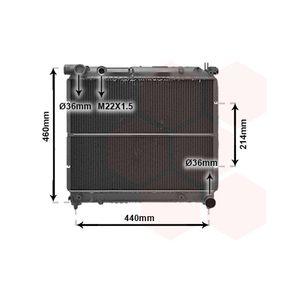 VAN WEZEL  52002025 Radiator, racire motor Dimensiuni radiator: 375x478x36