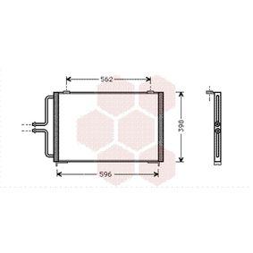 VAN WEZEL  43005236 Kondensator, Klimaanlage Netzmaße: 580x390x20