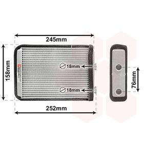 Heat Exchanger, interior heating 17006220 PUNTO (188) 1.2 16V 80 MY 2000