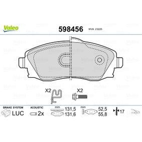 Bremsbelagsatz, Scheibenbremse Breite 2: 131,6mm, Breite: 131,5mm, Höhe 2: 55,8mm, Höhe: 52,5mm, Dicke/Stärke 2: 17mm, Dicke/Stärke: 17mm mit OEM-Nummer 1605 092