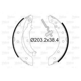 Bremsbackensatz Trommel-Ø: 203mm, Breite: 38mm mit OEM-Nummer 7701-205-720