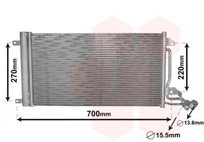 VAN WEZEL  49005038 Kondensator, Klimaanlage