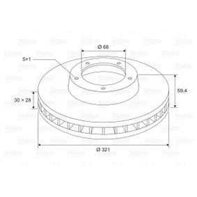 Bremsscheibe Bremsscheibendicke: 30mm, Felge: 5-loch, Ø: 321mm mit OEM-Nummer 4F0615301E