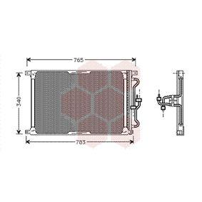 VAN WEZEL  77005004 Kondensator, Klimaanlage Netzmaße: 650x362x22