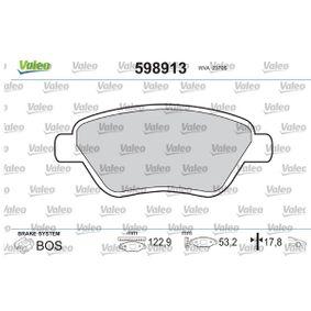 Bremsbelagsatz, Scheibenbremse Breite 1: 122,9mm, Höhe 1: 53,2mm, Dicke/Stärke 1: 17,8mm mit OEM-Nummer 77363992