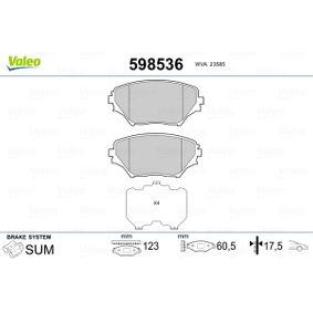 Bremsbelagsatz, Scheibenbremse Breite 1: 123mm, Höhe 1: 60,5mm, Dicke/Stärke 1: 17,5mm mit OEM-Nummer 0446542130