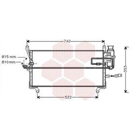 VAN WEZEL  17005216 Kondensator, Klimaanlage Netzmaße: 664x253x22